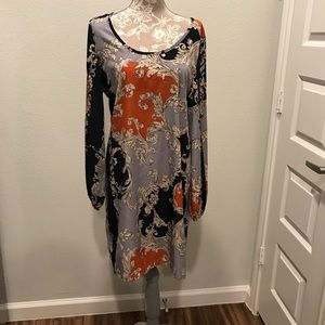 NIP Anthropologie Printed Boho Peasant Dress